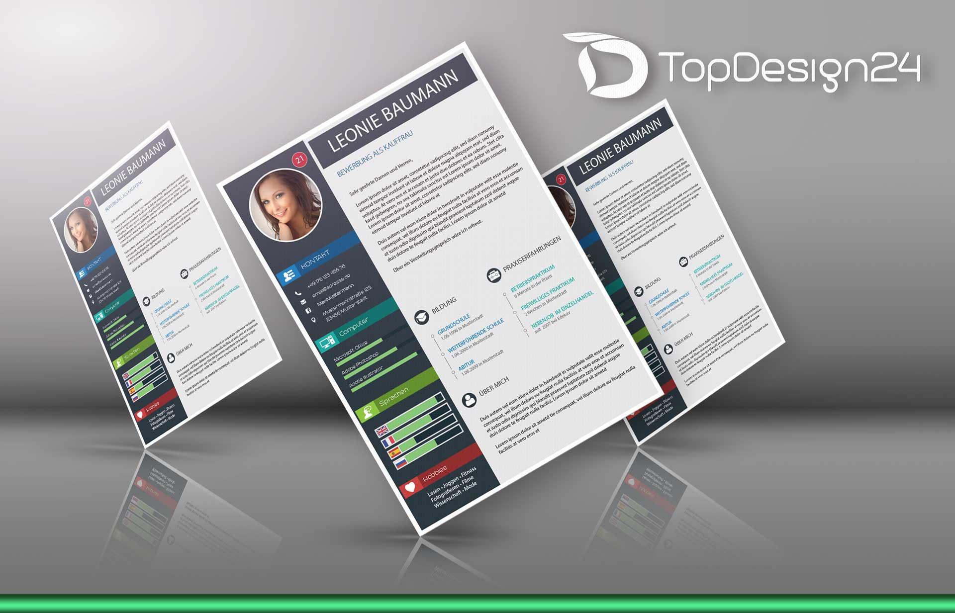 bewerbung deckblatt modern - Bewerbung Deckblatt Design