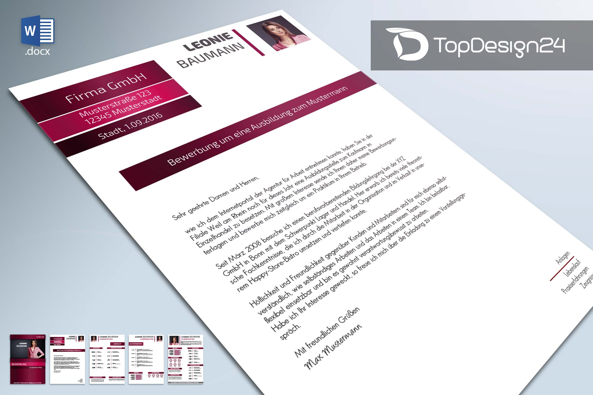 Bewerbungsvorlage-Anschreiben-topdesign24 – TopDesign24