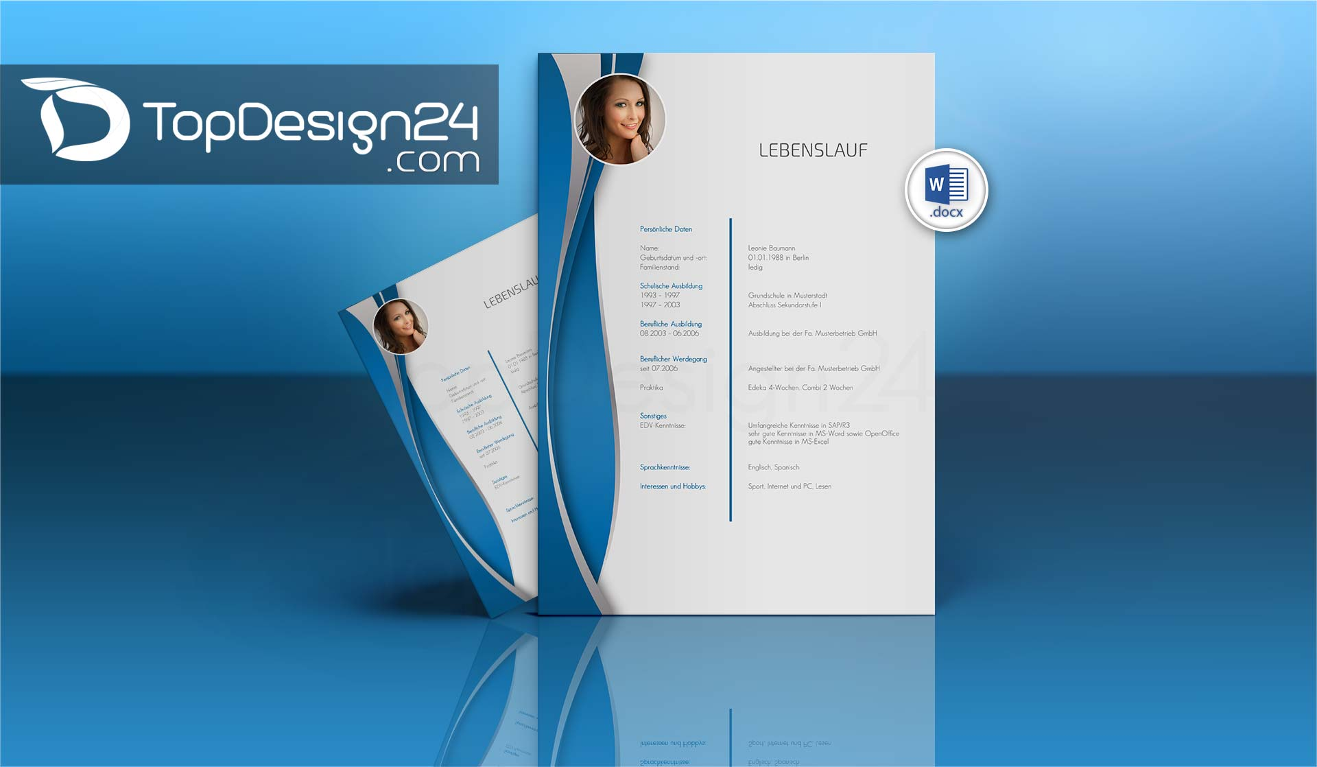 Deckblatt Bewerbung Download Topdesign24