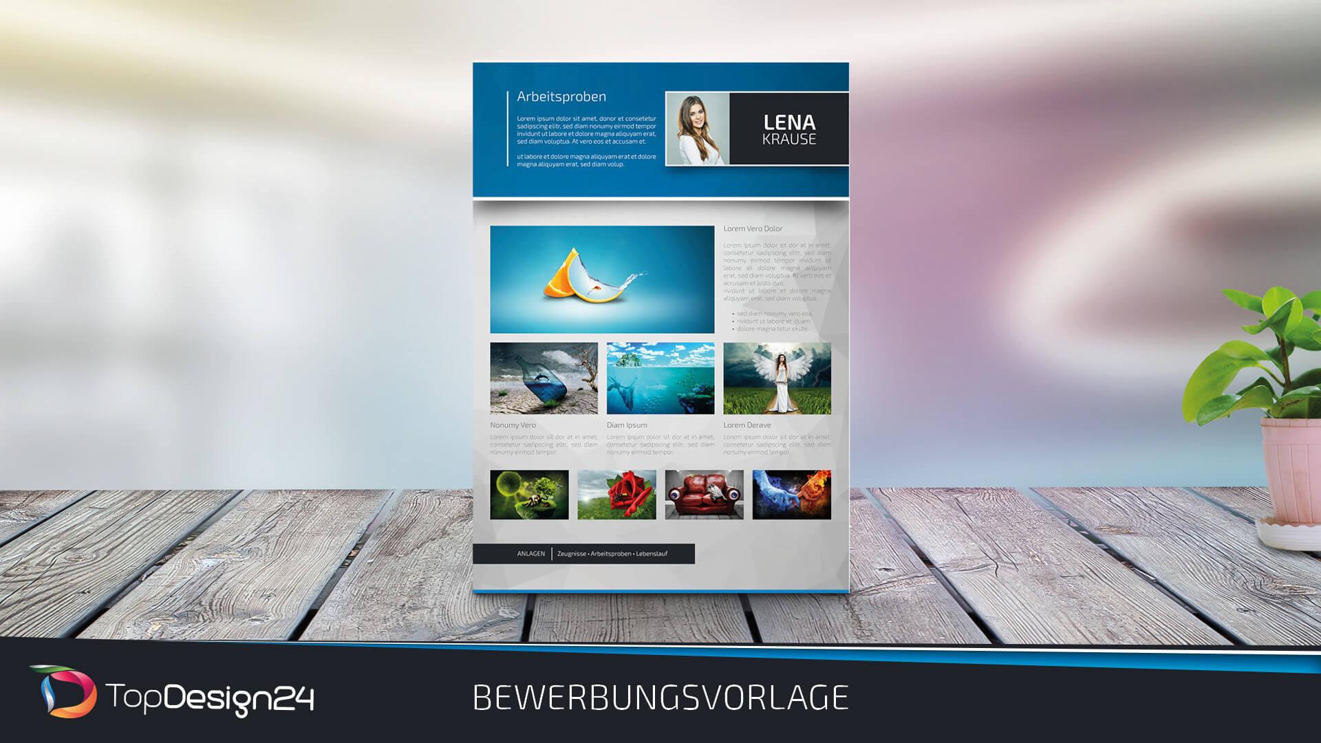Lebenslauf design 2018 topdesign24 bewerbungsvorlage for Design shop 24