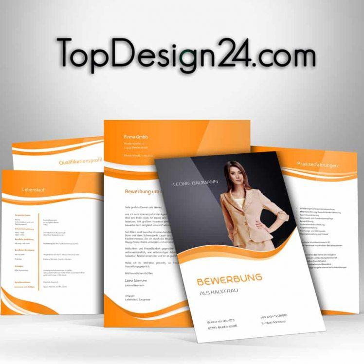 Bewerbungsvorlagen---orange--TopDesign24