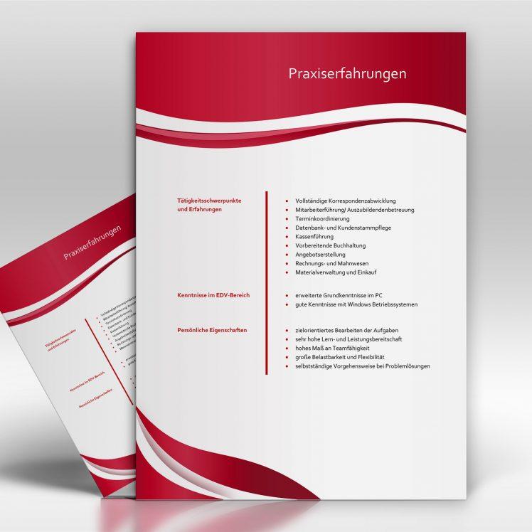 Praxiserfahrungen- - TopDesign24 - Musterbewerbung