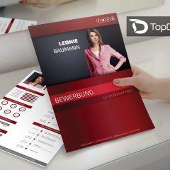 deckblatt design bewerbung