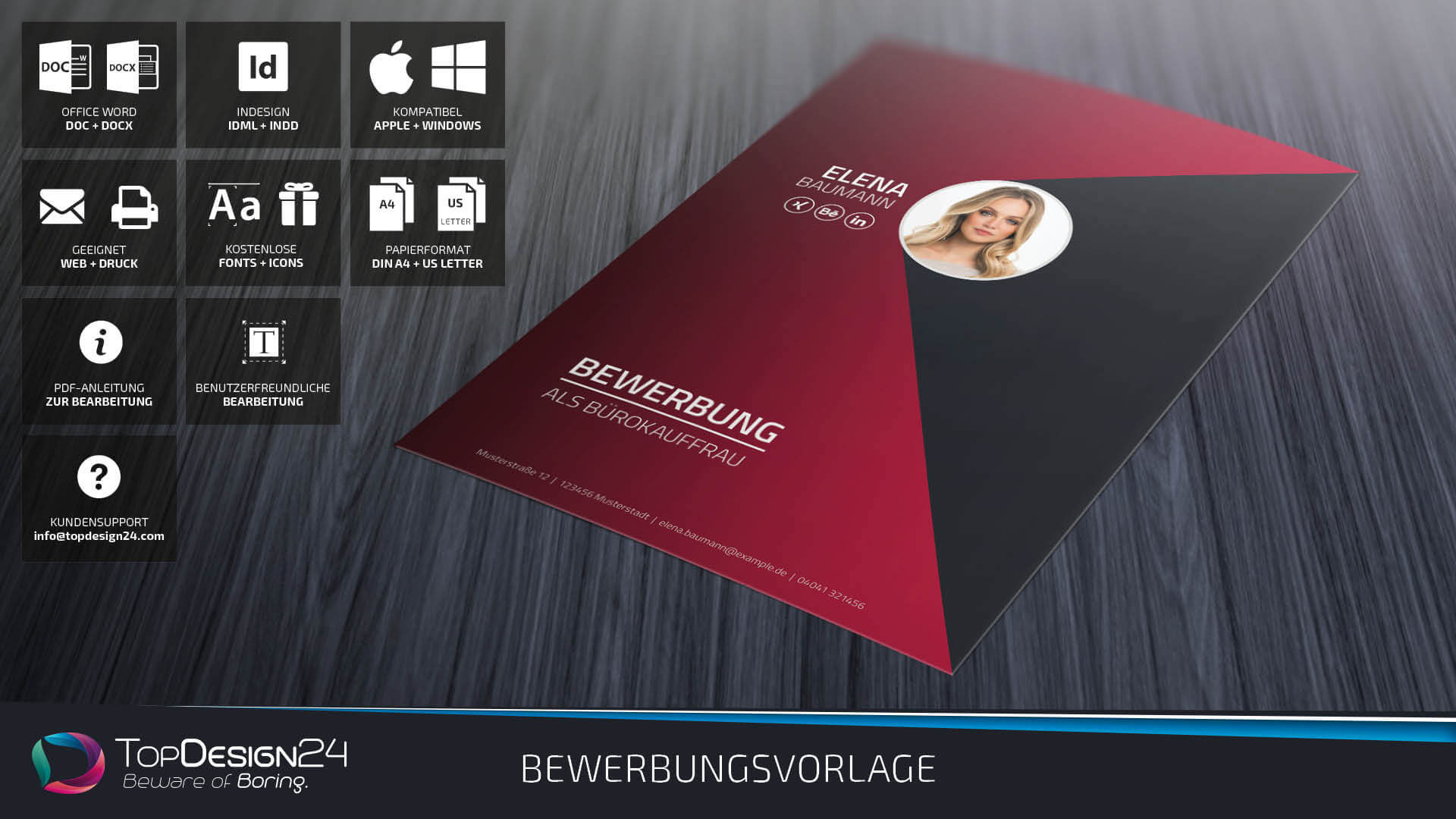 Lebenslauf Vorlage 2018 Topdesign24 Bewerbungsvorlage Word 2018