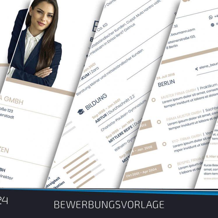 Bewerbungsvorlage design