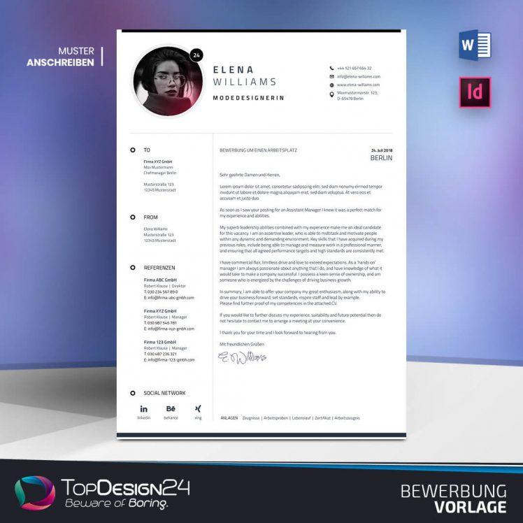 Bewerbung Schreiben TopDesign24